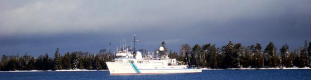 The Lake Guardian visits Copper Harbor