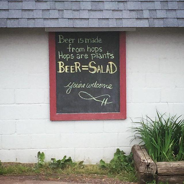 Good logic by the Brickside Brewery #copperharbor #michigan #michiganbeer #microbrew #beerlogic #craftbeer #brickside #brewery