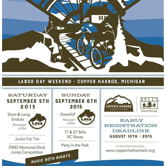 Join us this weekend for the Bell's Copper Harbor Trails Festival! Plenty of race action and fun tradition Saturday and Sunday, grab your camping gear and come to Copper Harbor for the last big weekend of the summer! #CopperHarbor #CHTC #IMBA #ridecenter #trailsfest #mountainbiking #puremichigan